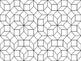 aperiodic tiling of the plane by Ammann